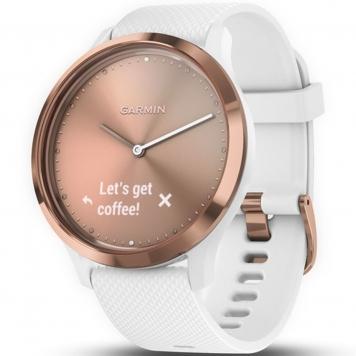 72282 Vivomove HR Sport Hybrid Smart Watch - Rose Gold