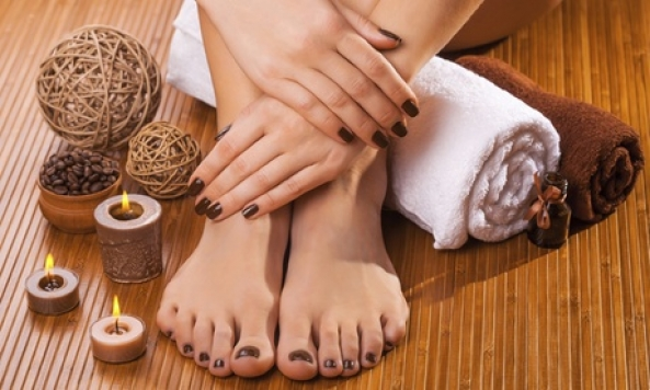 Manicure and Pedicure at Nails By Sherri (Up to 45% Off). Four Options Available.