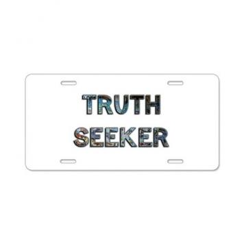 Truth Seeker Aluminum License Plate
